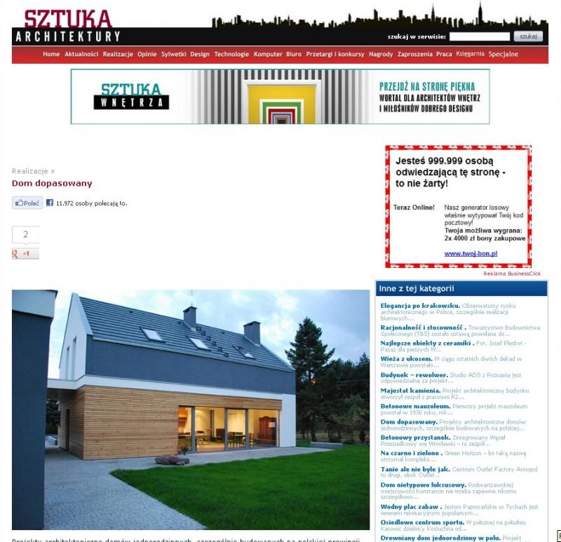Dom w Kowanowku - Sztuka Architektury